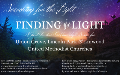 Finding the Light – Christmas Eve Candlelight Service 2020