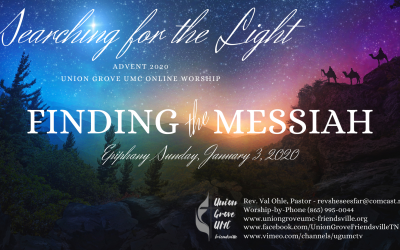 Finding the Messiah – UGUMC Online Worship for January 3 2021